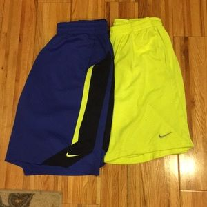 Two (2) pairs Nike athletic Shorts